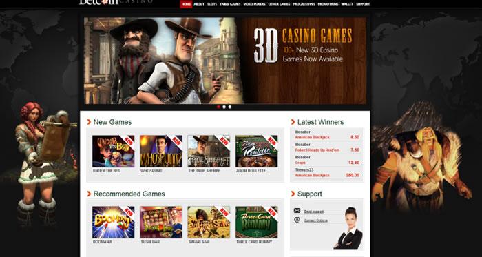Betcoin Casino Homepage