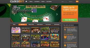 cloudbet casino homepage