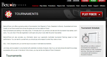 betcoinpoker tournaments