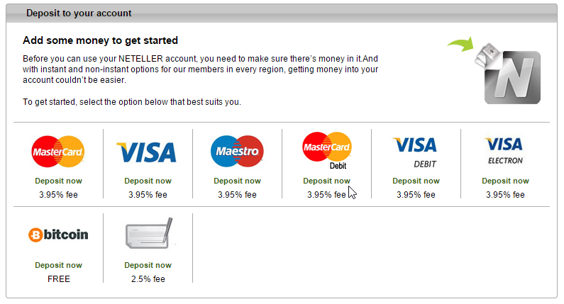 Bitcoin integrated as a payment method at Neteller