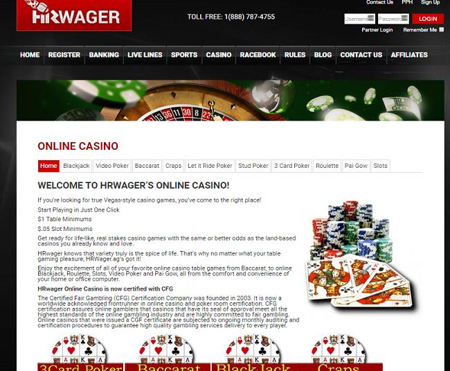 hrwager online casino
