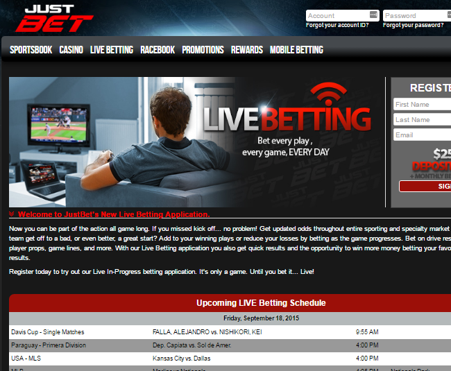 Justbet Casino Live Betting