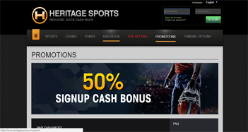 Heritage Sports Live Betting Promotions